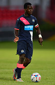 Cheick Tiote of Newcastle in action during the pre season friendly between Gateshead and Newcastle United at Gateshead International Stadium on July...