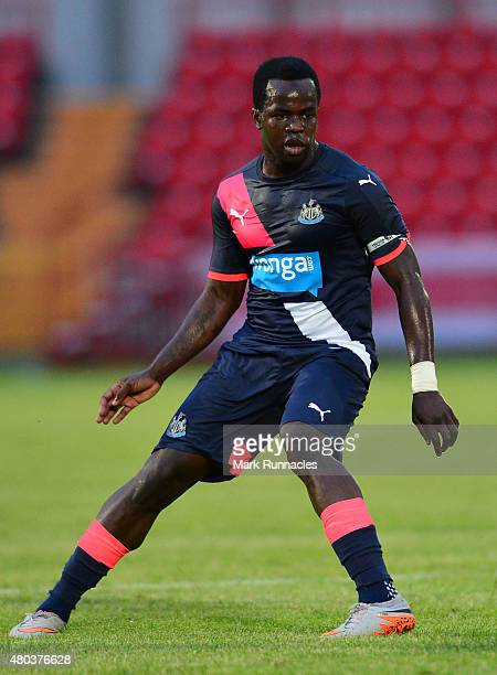 Cheick Tiote of Newcastle in action during the pre season friendly match between Gateshead and Newcastle United at Gateshead International Stadium on...