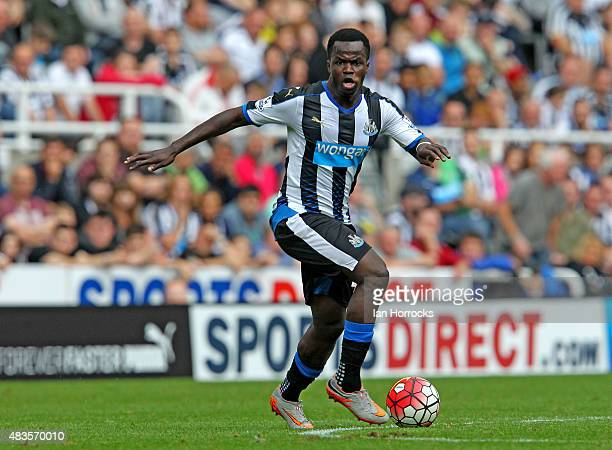 Cheick Tiote of Newcastle United during the Barclays Premier League match between Newcastle United and Southampton at St James' Park on August 09...