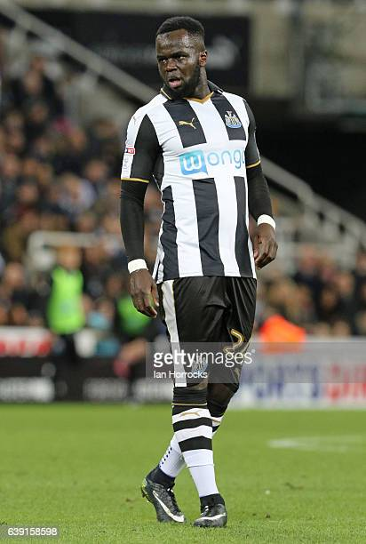 Cheick Tiote of Newcastle United during the FA Cup third round replay between Newcastle United and Birmingham City at St James' Park on January 18...