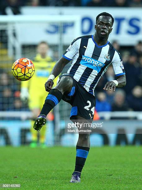 Cheick Tiote of Newcastle United in action during the Barclays Premier League match between Newcastle United FC and West Bromwich Albion FC at St...