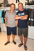 Cheif Creative Officer of Laird Apparel William Cawley and actor John C McGinley attend the launch of Laird Apparel by Laird Hamilton at Ron Robinson...