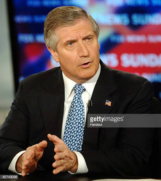 Cheif of Staff Andrew Card speaks on 'FOX News Sunday' on May 1 2005 in Washington DC Card said it appeared North Korea had recently tested a...