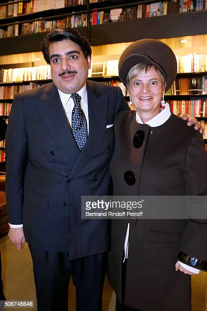 Cheik Hamad Al Thani and Princess Gloria Von Thurn und Taxis attend Princess Gloria Von Thurn und Taxis signs her Book 'The House of Thurn und Taxis'...