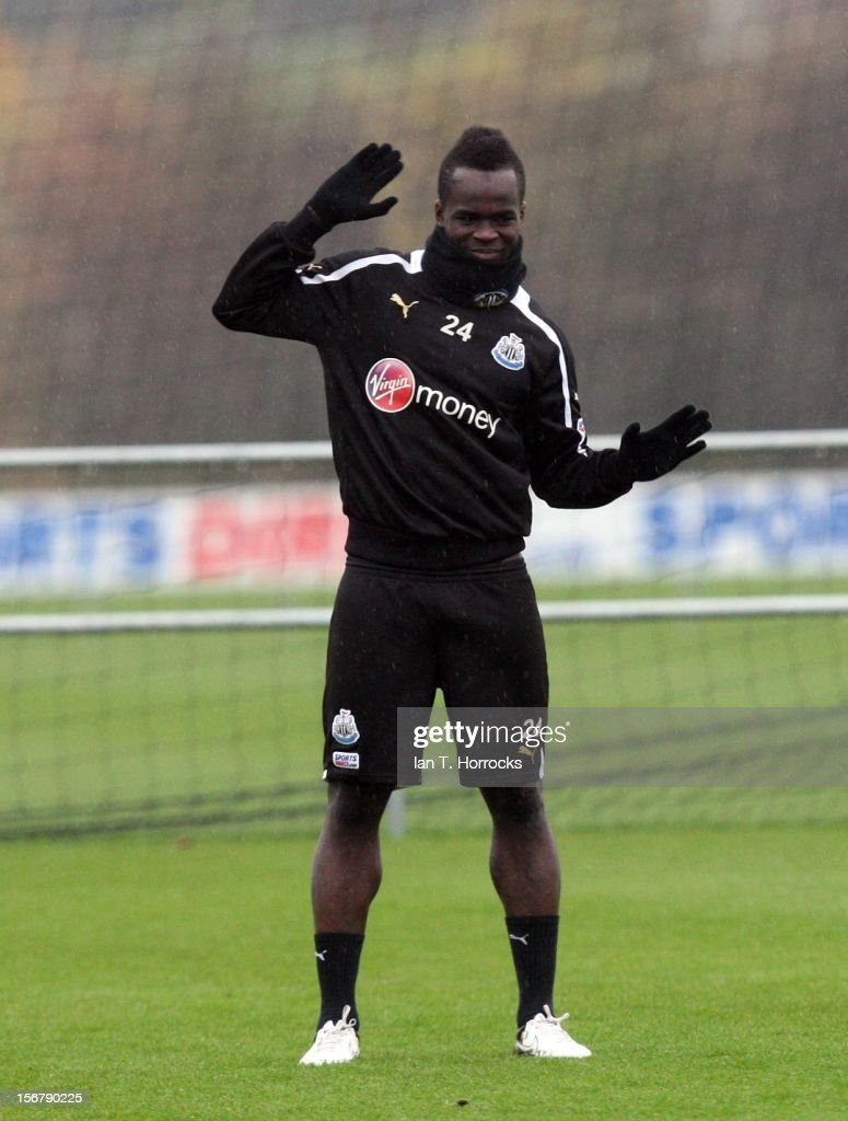Cheik Tiote during a Newcastle United training session at the Little Benton training ground on November 21, 2012, in Newcastle upon Tyne
