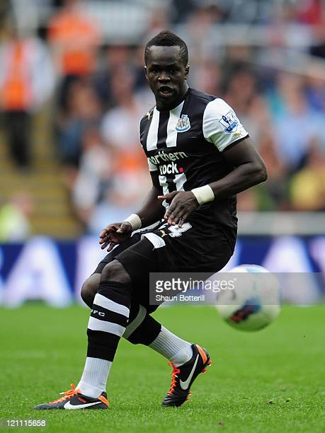 Cheik Tiote of Newcastle United in action during the Barclays Premier League match between Newcastle United and Arsenal at St James' Park on August...