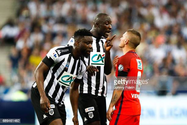 Cheikh Ndoye of Angers and Marco Verratti of Paris Saint Germain during the National Cup Final match between Angers SCO and Paris Saint Germain PSG...