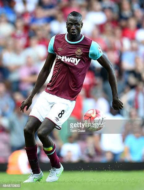 Cheikhou Kouyate of West Ham in action during the Barclays Premier League match between West Ham United and Bournemouth at the Boleyn Ground on...