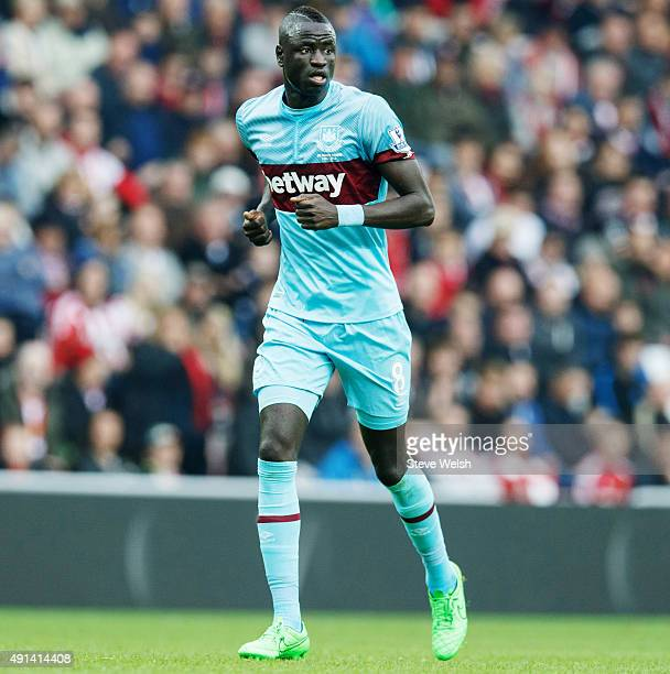 Cheikhou Kouyate of West Ham United during the Barclays Premier League match between Sunderland and West Ham United at the Stadium of Light on...