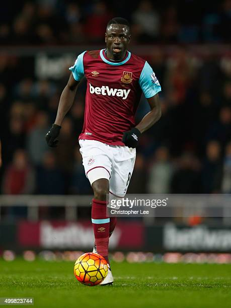 Cheikhou Kouyate of West Ham United in action during the Barclays Premier League match between West Ham United and West Bromwich Albion at the Boleyn...