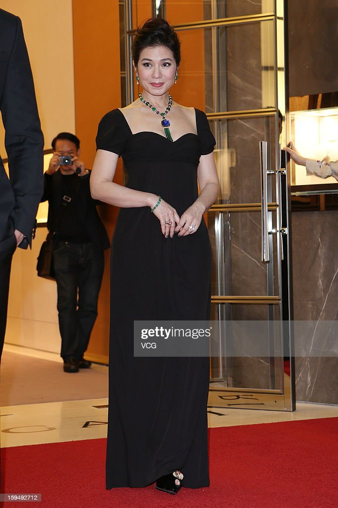 Cheire Chung attends Bvlgari fashion event on January 14, 2013 in Taipei, Taiwan of China.