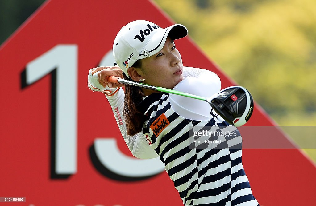 Chella Choi of South Korea during the first round of the HSBC Women's Champions at the Sentosa Golf Club on March 3 2016 in Singapore Singapore