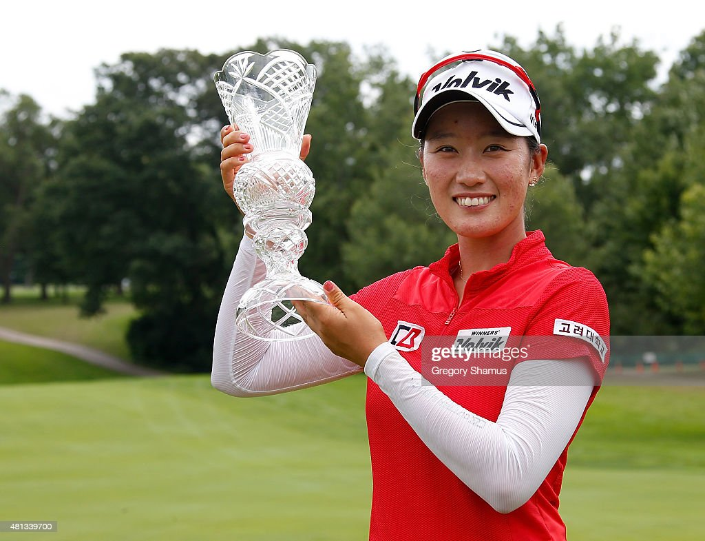 <a gi-track='captionPersonalityLinkClicked' href=/galleries/search?phrase=Chella+Choi&family=editorial&specificpeople=5770500 ng-click='$event.stopPropagation()'>Chella Choi</a> of South Korea holds up the trophy after winning the Marathon Classic presented by Owens Corning and O-I at Highland Meadows Golf Club on July 19, 2015 in Sylvania, Ohio.