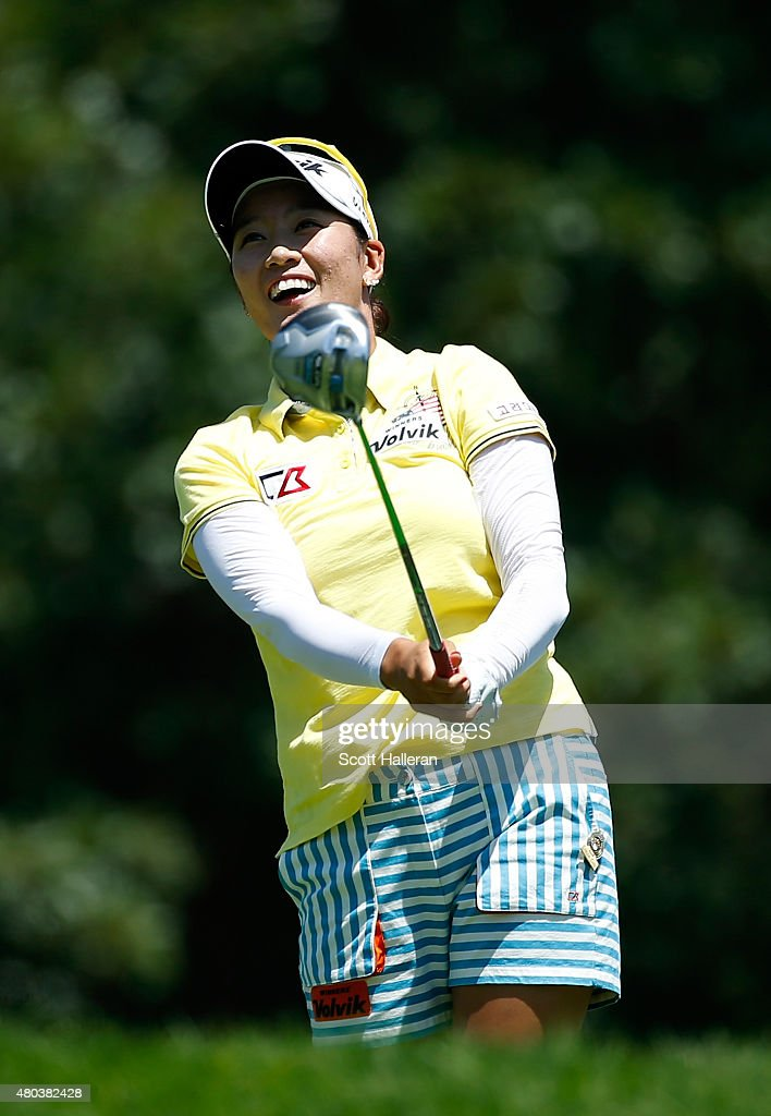 Chella Choi of South Korea watches her tee shot on the 14th hole during the third round of the U.S. Women's Open at Lancaster Country Club on July 11, 2015 in Lancaster, Pennsylvania.