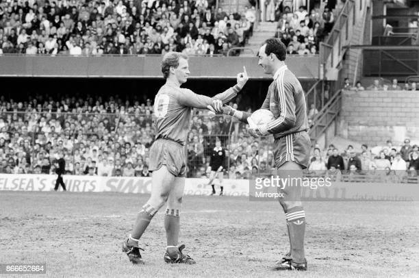 Chelsea 01 Liverpool League match at Stamford Bridge Saturday 3rd May 1986 Liverpool Football Club win their last game of the season 1985/86 to...