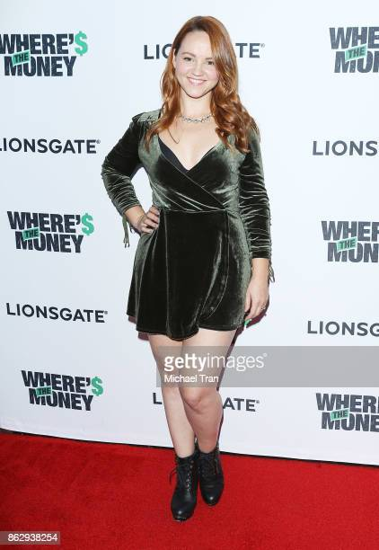 Chelsea Alden arrives to the Los Angeles premiere of Lionsgate's 'Where's The Money' held at ArcLight Cinemas on October 18 2017 in Culver City...