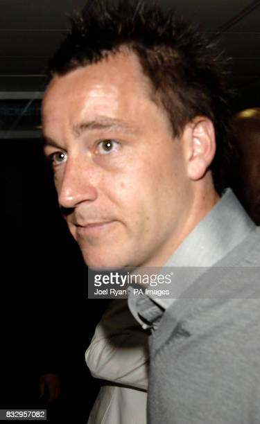 Chelsea and England's John Terry arrives at the party at the Aquarium in London