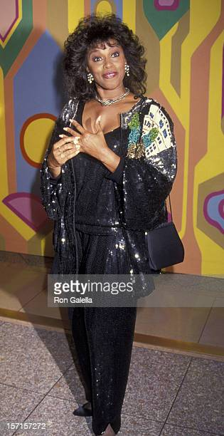 Chelsea Brown attends 25th Anniversary Party for 'Laugh In' on January 15 1993 at the Santa Monica Beach Hotel in Santa Monica California