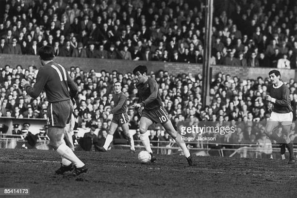 Chelsea captain Terry Venables in action 23rd February 1966