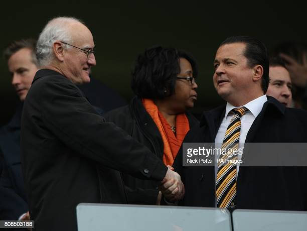 Chelsea Chairman Bruce Buck shakes hands with Wolverhampton Wanderers Chief Executive Jez Moxey