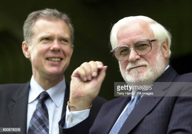 Chelsea chairman Ken Bates with his new chief executive Trevor Birch during a friendly match with Wycombe Wanderers Adams Park High Wycombe Trevor...