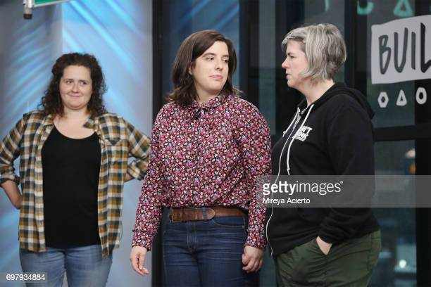 Chelsea Clarke Abra Tabak and Shannon O'Neill members of the Upright Citizens Brigade Theatre visit Build to discuss 'The Del Close Marathon' at...