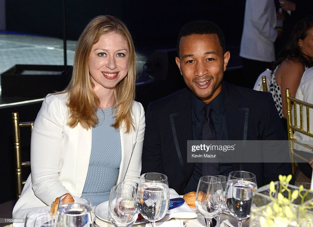 Chelsea Clinton and John Legend attend the Samsung's Annual Hope for Children Gala at CiprianiÕs in Wall Street on June 11, 2013 in New York City.