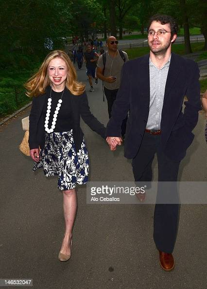 Chelsea Clinton and Marc Mezvinsky are seen on June 18 2012 in New York City