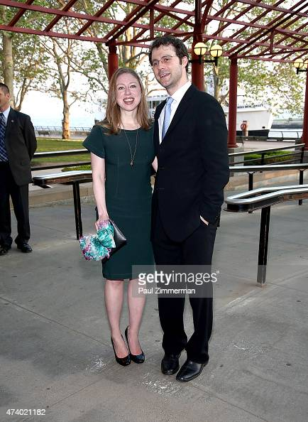 Chelsea Clinton and Marc Mezvinsky attend the 2015 Statue Of LibertyEllis Island Foundation's Gala in the Great Hall at Ellis Island National Museum...