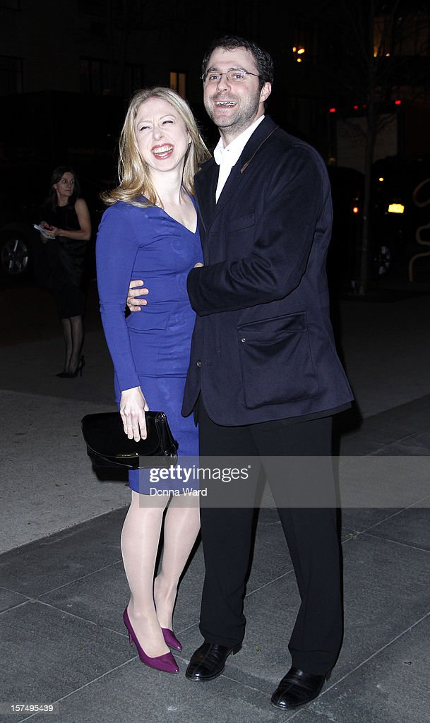 Chelsea Clinton and Marc Mezvinsky attend The Museum of Modern Art Film Benefit Honoring Quentin Tarantino at MOMA on December 3, 2012 in New York City.