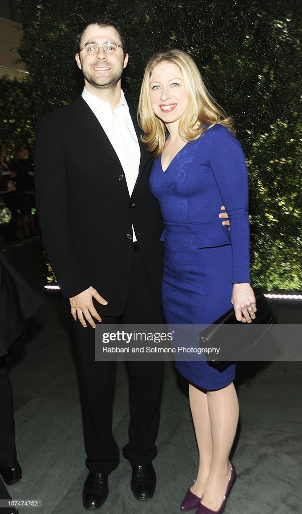 Chelsea Clinton and Marc Mezvinsky attends The Museum of Modern Art 5th annual Film Benefit honoring Quentin Tarantino at MOMA on December 3, 2012 in New York City.