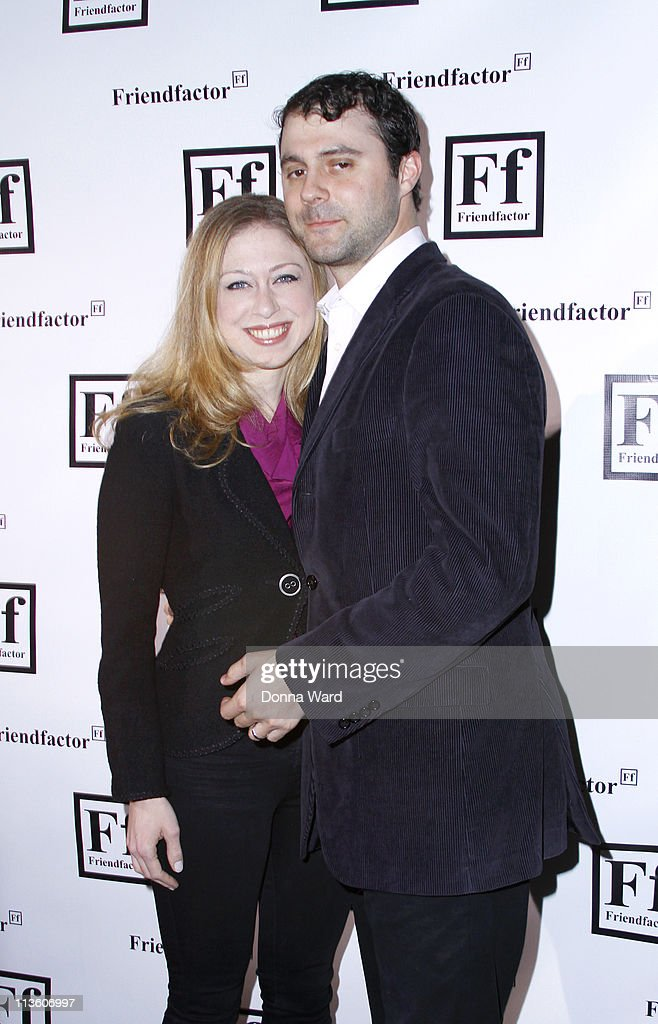 <a gi-track='captionPersonalityLinkClicked' href=/galleries/search?phrase=Chelsea+Clinton&family=editorial&specificpeople=119698 ng-click='$event.stopPropagation()'>Chelsea Clinton</a> and Mark Mezvinsky attend the New York launch of Friendfactor at Lavo on May 3, 2011 in New York City.