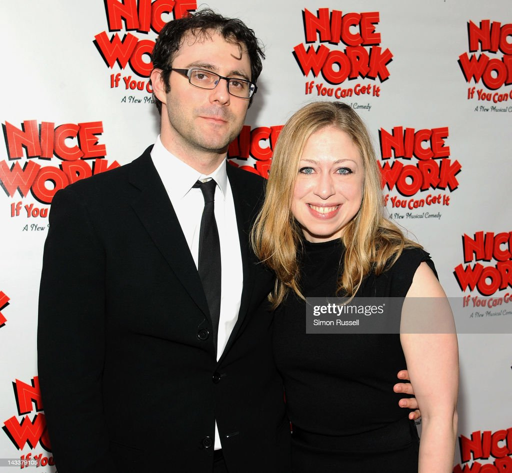 <a gi-track='captionPersonalityLinkClicked' href=/galleries/search?phrase=Chelsea+Clinton&family=editorial&specificpeople=119698 ng-click='$event.stopPropagation()'>Chelsea Clinton</a> and Mark Mezvinsky attend the 'Nice Work If You Can Get It' Broadway opening night at the Imperial Theatre on April 24, 2012 in New York City.