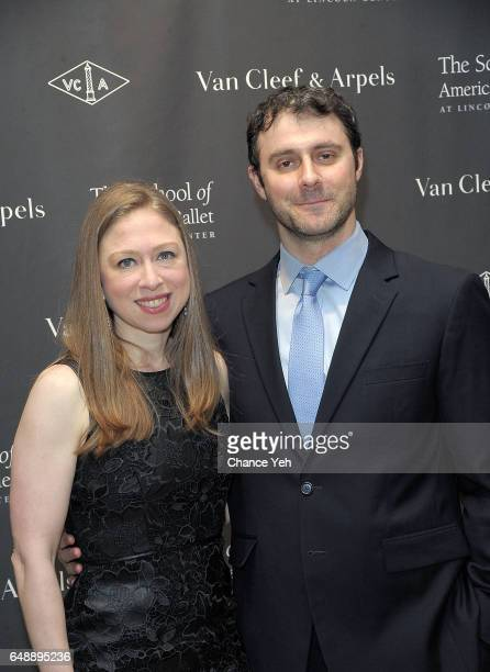 Chelsea Clinton and Mark Mezvinsky attend The School Of American Ballet's 2017 Winter Ball at David H Koch Theater at Lincoln Center on March 6 2017...