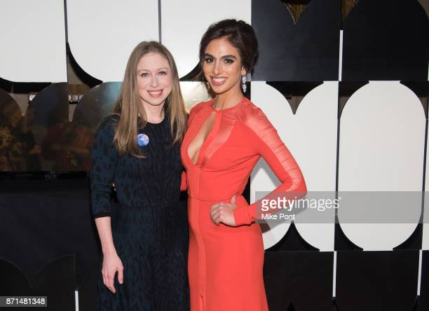Chelsea Clinton and Shari Loeffler attend the 2017 Museum of Arts Design MAD Ball at Cipriani 42nd Street on November 7 2017 in New York City