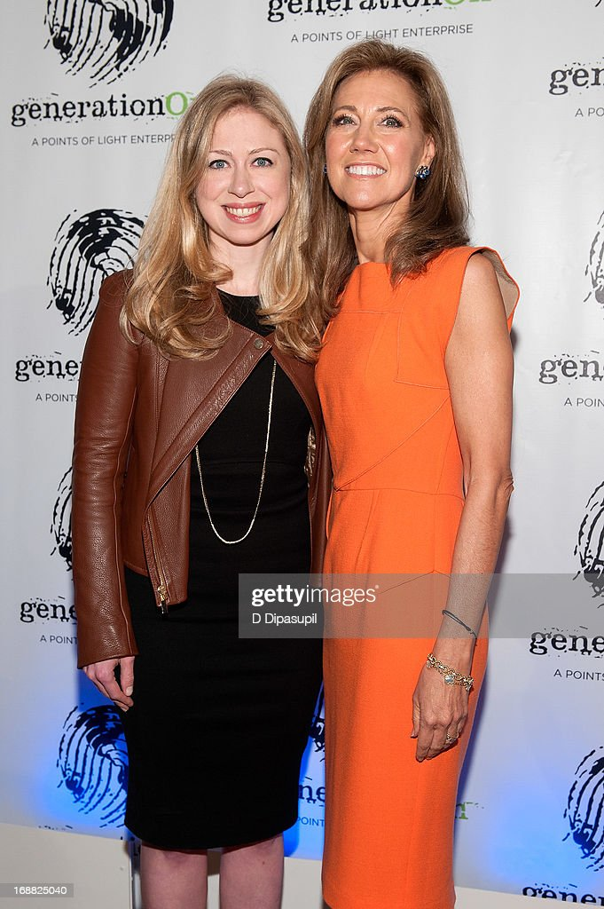 Chelsea Clinton and Silda Wall Spitzer attend the 2013 Outstanding Leadership In Youth Service Benefit at 583 Park Avenue on May 15 2013 in New York...