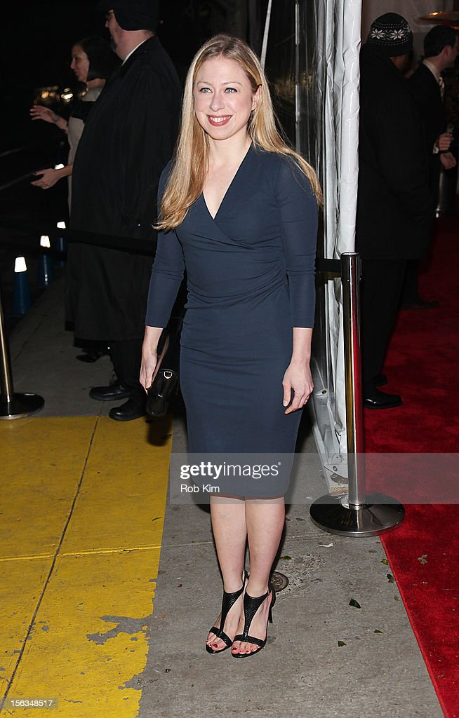 Chelsea Clinton arrives at The Ninth Annual CFDA/Vogue Fashion Fund Awards at 548 West 22nd Street on November 13, 2012 in New York City.