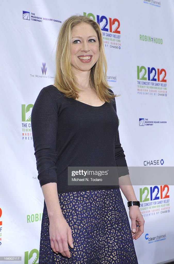 <a gi-track='captionPersonalityLinkClicked' href=/galleries/search?phrase=Chelsea+Clinton&family=editorial&specificpeople=119698 ng-click='$event.stopPropagation()'>Chelsea Clinton</a> attends 12-12-12 the Concert for Sandy Relief at Madison Square Garden on December 12, 2012 in New York City.