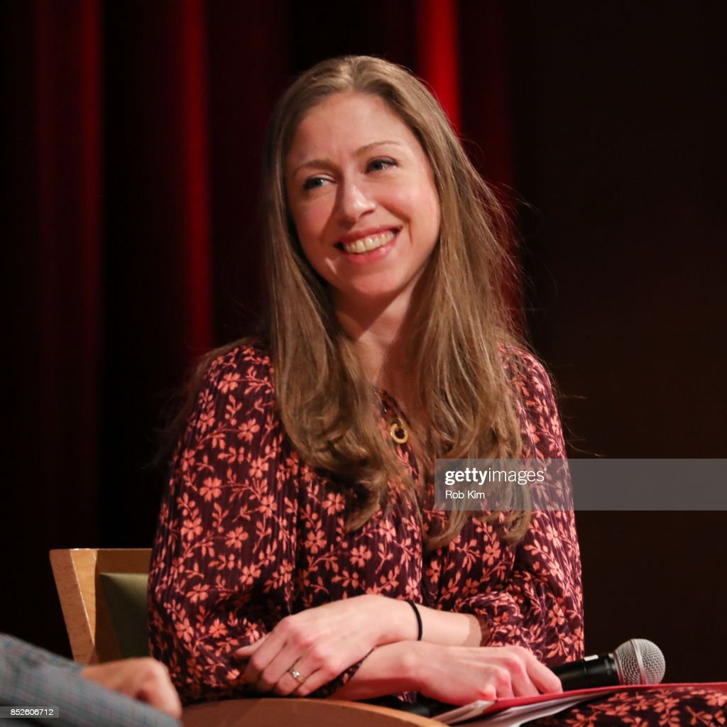 Chelsea Clinton attends Fast Forward Women's Innovation Forum at The Metropolitan Museum of Art on September 23, 2017 in New York City.