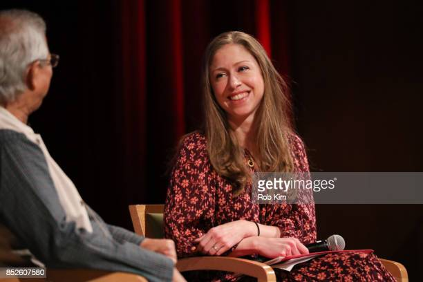 Chelsea Clinton attends Fast Forward Women's Innovation Forum at The Metropolitan Museum of Art on September 23 2017 in New York City