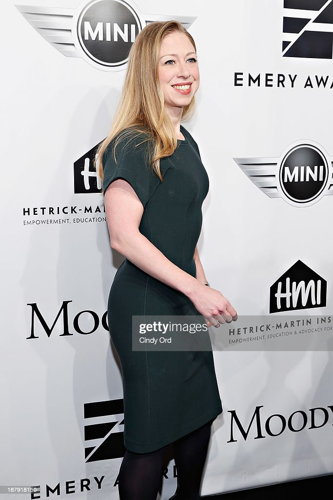 <a gi-track='captionPersonalityLinkClicked' href=/galleries/search?phrase=Chelsea+Clinton&family=editorial&specificpeople=119698 ng-click='$event.stopPropagation()'>Chelsea Clinton</a> attends the 2013 Emery Awards at Cipriani Wall Street on November 13, 2013 in New York City.