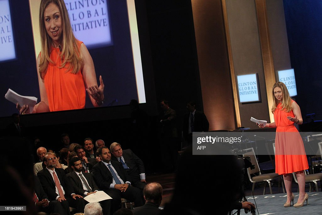 Chelsea Clinton attends the Closing Plenary Session of the Clinton Global Initiative (CGI) September 26, 2013 in New York. AFP PHOTO/Mehdi Taamallah