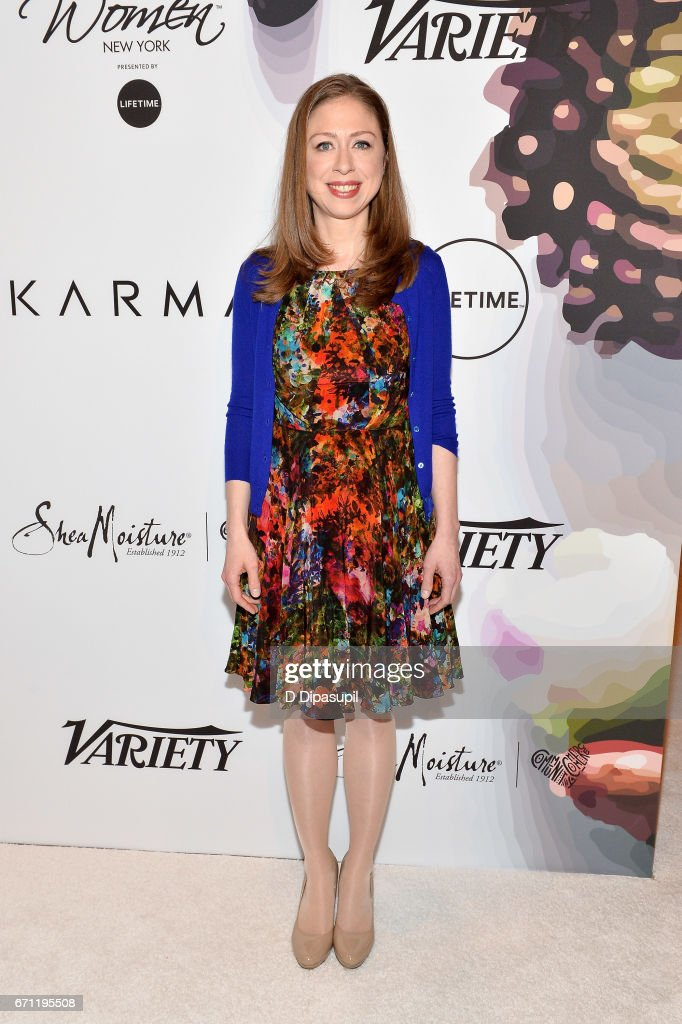 Chelsea Clinton attends Variety's Power of Women: New York at Cipriani Midtown on April 21, 2017 in New York City.