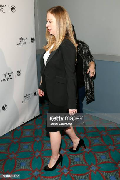 Chelsea Clinton Executive Producer of 'Of Many' attends the Shorts Program City Limits during the 2014 Tribeca Film Festival at AMC Loews Village 7...