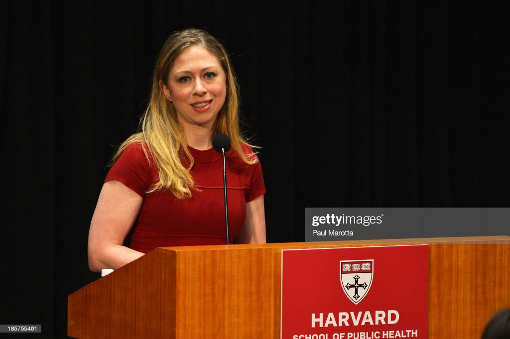 <a gi-track='captionPersonalityLinkClicked' href=/galleries/search?phrase=Chelsea+Clinton&family=editorial&specificpeople=119698 ng-click='$event.stopPropagation()'>Chelsea Clinton</a> receives the Next Generation Award from Harvard School of Public Health on October 24, 2013 in Boston, Massachusetts.
