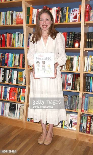 Chelsea Clinton signs copies of her book 'She Persisted' at BookHampton on August 4 2017 in East Hampton New York