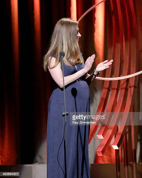 Chelsea Clinton speaks at the 8th Annual Clinton Global Citizen Awards And CGCA Blue Carpet at Sheraton New York Times Square on September 21 2014 in...