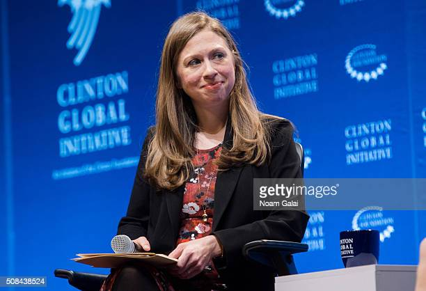 Chelsea Clinton speaks at The Clinton Global Initiative Winter Meeting at Sheraton New York Times Square on February 4 2016 in New York City