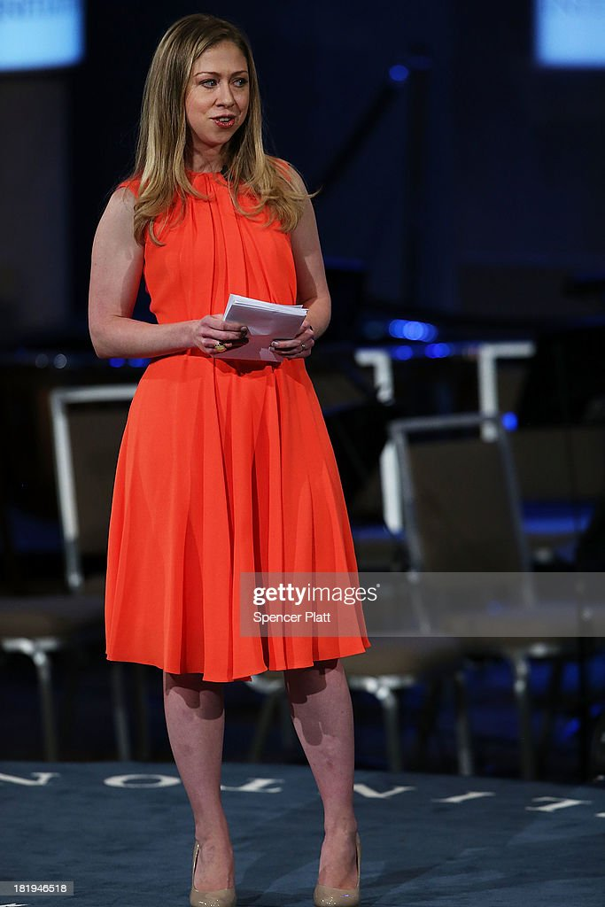 Chelsea Clinton speaks at the closing session of the Clinton Global Initiative (CGI) on September 26, 2013 in New York City. Timed to coincide with the United Nations General Assembly, CGI brings together heads of state, CEOs, philanthropists and others to help find solutions to the world's major problems.