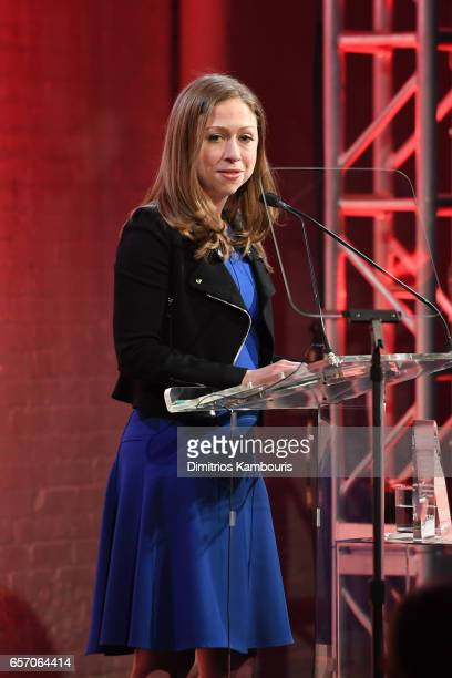 Chelsea Clinton speaks onstage at the GMHC 35th Anniversary Spring Gala at Highline Stages on March 23 2017 in New York City